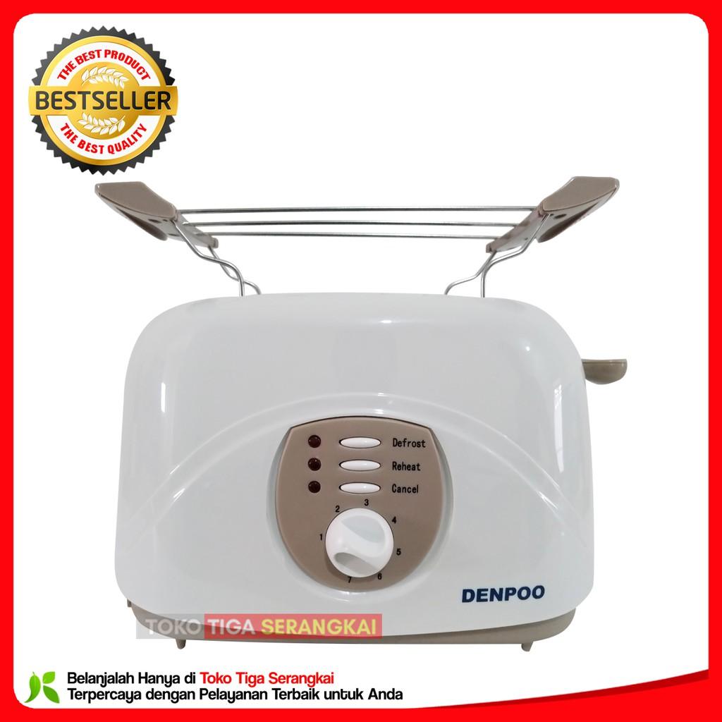 Denpoo Toaster Panggangan Roti DT-023D -Putih .