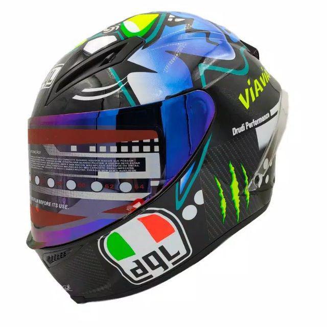 Corsa K3 Sv Veloce S Misano Corsa K3 Sv Veloce S Full Face Sepeda Motor Spoiler Rossi Retro Shopee Indonesia