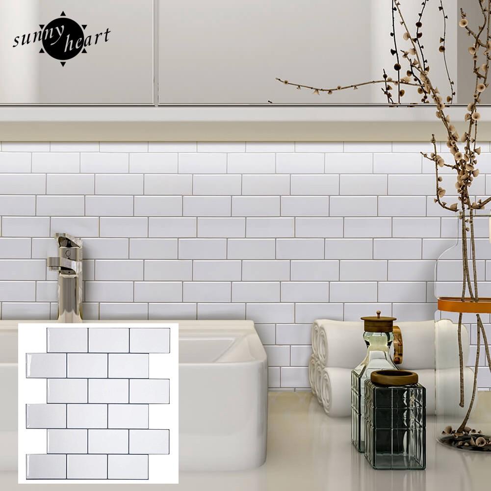 Waterproof Anti Oil Self Adhesive Thick Bathroom Tile Wall Stickers Shopee Indonesia