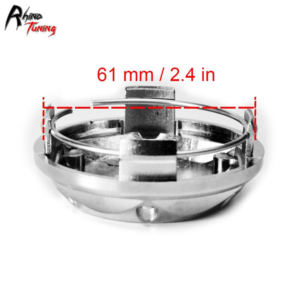 Car 68mm Dia Wheel Center Hub Cap Cover Guard 6 Clips 4pcs