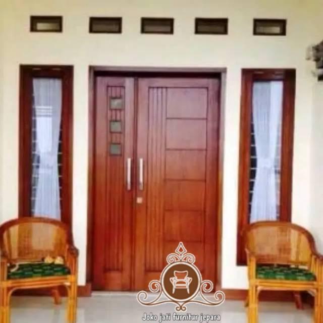 Kusen Pintu Jati Minimalis Jendela Rumah Shopee Indonesia