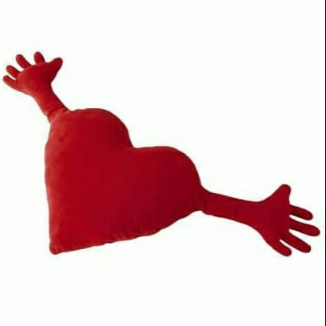 Upate Bantal Karakter Lucu  Bantal Motif Hati, Merah Ikea Famnig Hjrta Qr0890   Shopee Indonesia