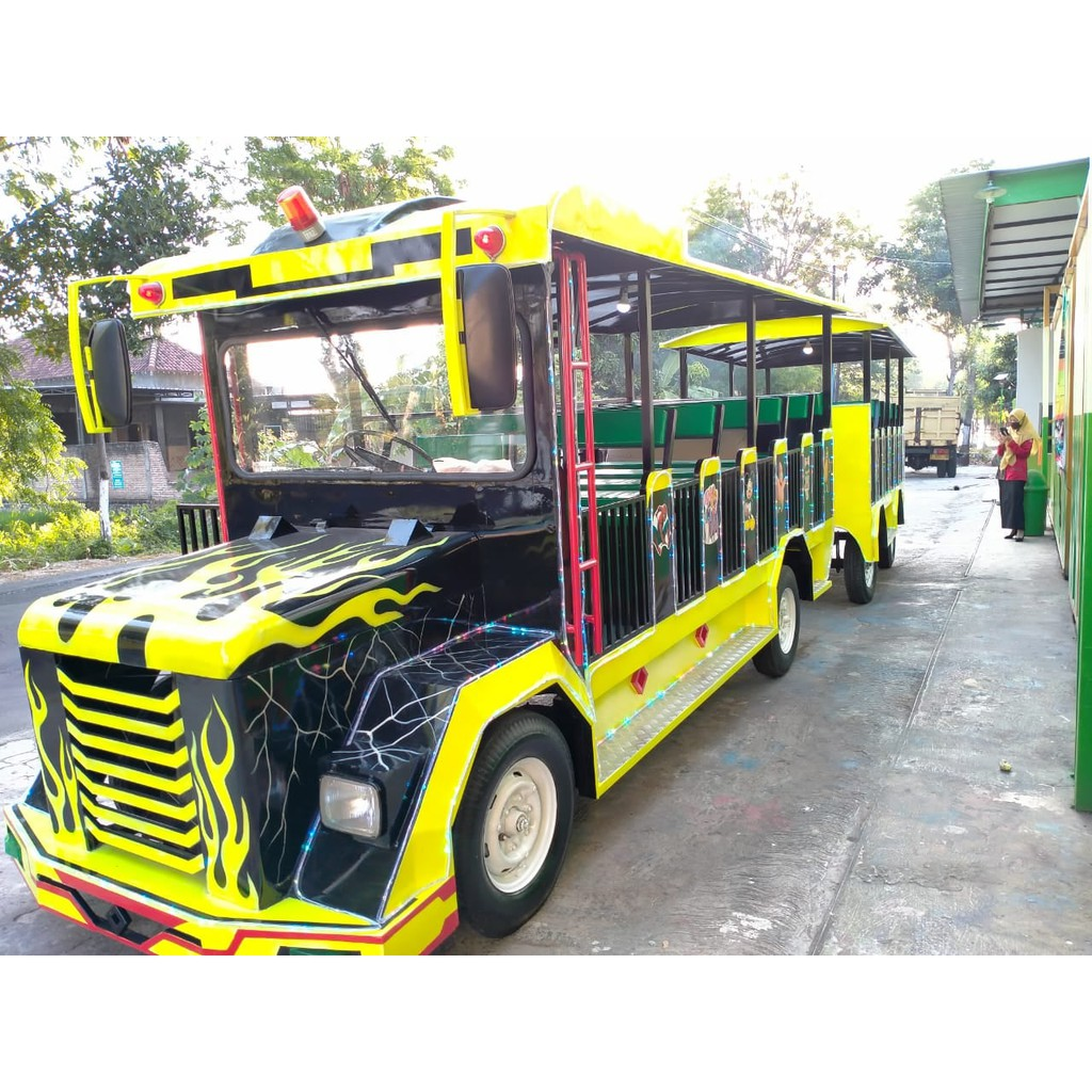 Odong Odong Kereta Mini Mobil Full Airbrush 2 Gerbong Shopee Indonesia