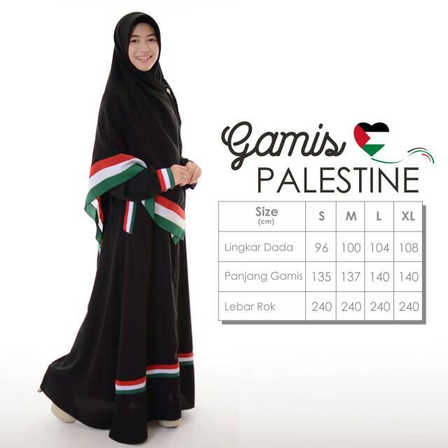 Gamis Palestine Wolfies Hijabhayuri Shopee Indonesia