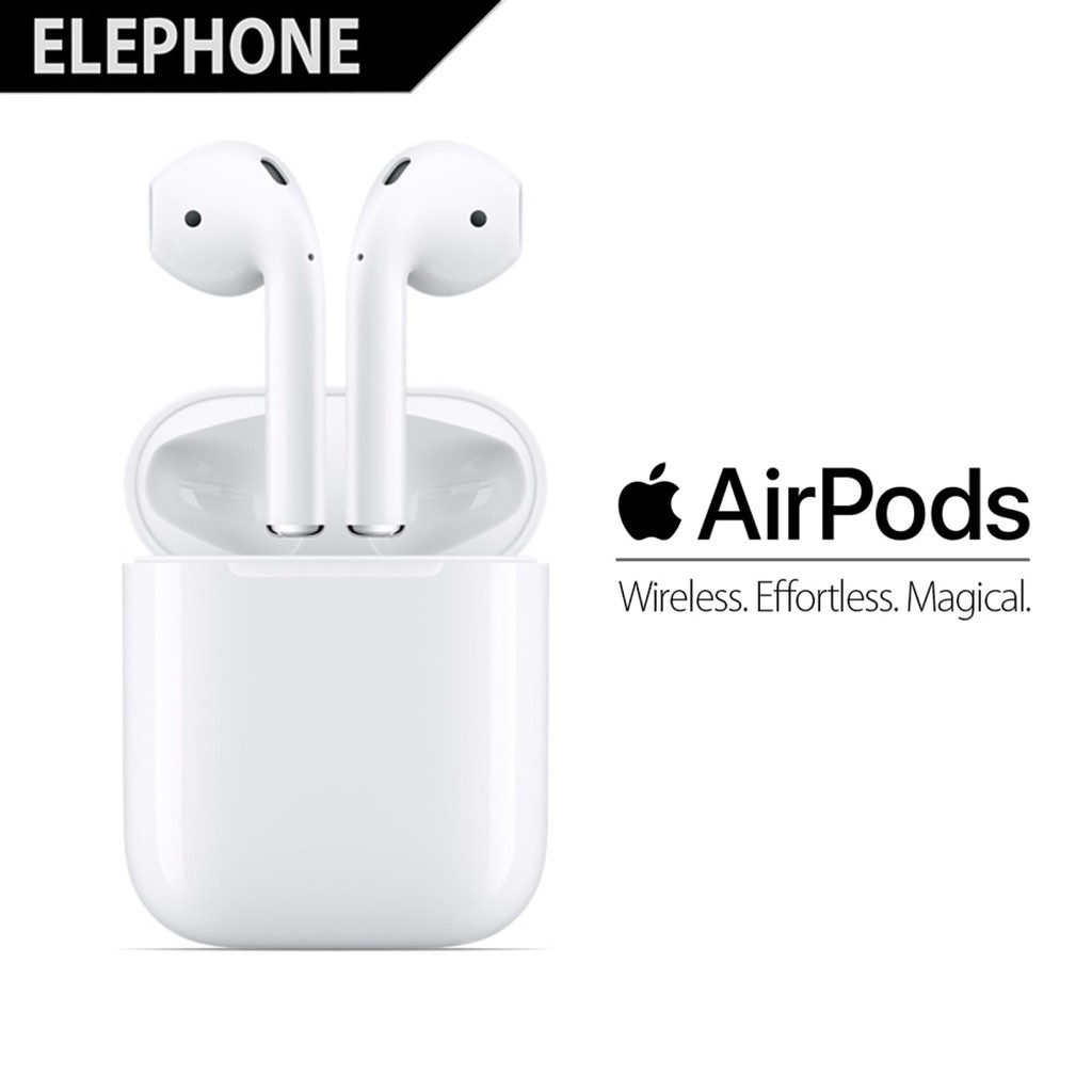 Apple Airpods Wireless Bluetooth Headset For Iphone Ipad Mac Ipod Baseus E06 Speaker 35mm Aux In Wired Putih Shopee Indonesia