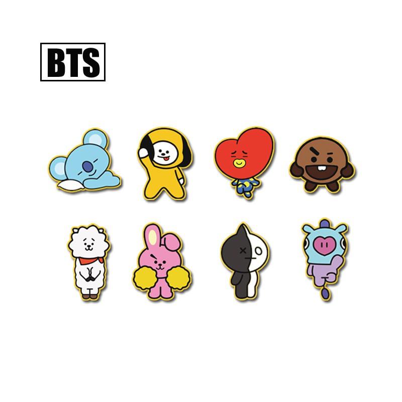 BTS BT21 DIY Kartun stiker GOT7 EXO wanna salah stiker gelembung stiker Kids | Shopee Indonesia