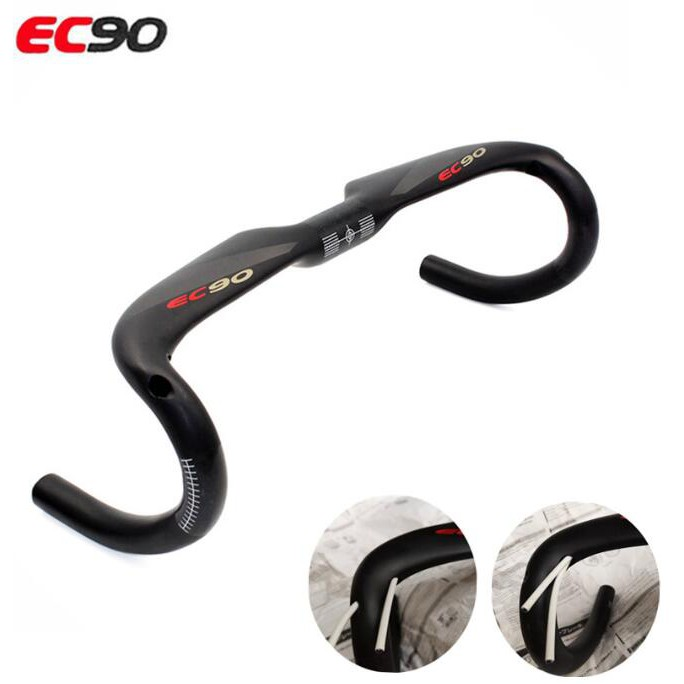3K Glossy Full Carbon Bike Computer Holder Road Racing Black Bicycle Handlebars