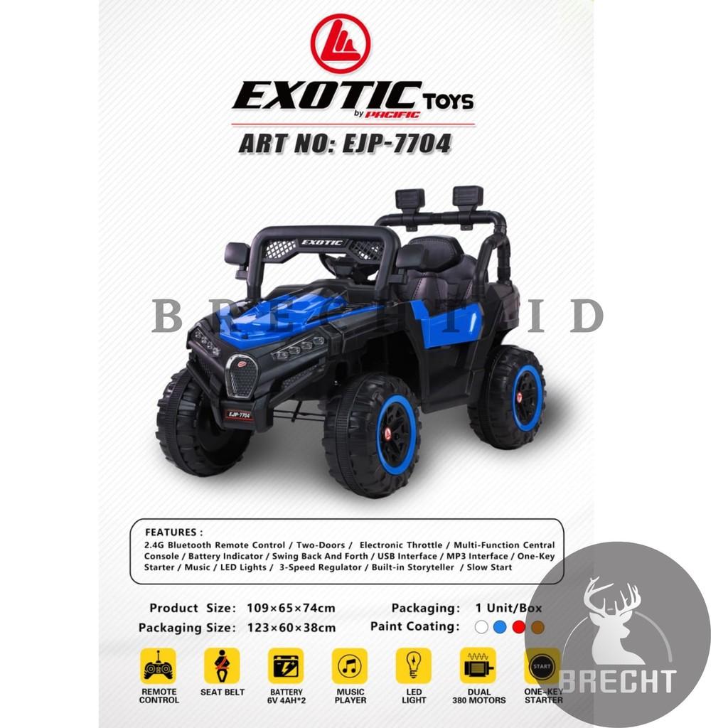 Mainan Anak Mobilan Aki Jeep Exotic EJP 7704 ATV Jeep