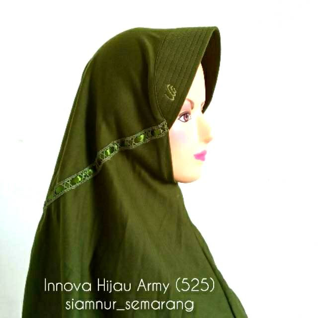 Innova Hijau Army 525 Size S Rabbani Hijab Shopee Indonesia