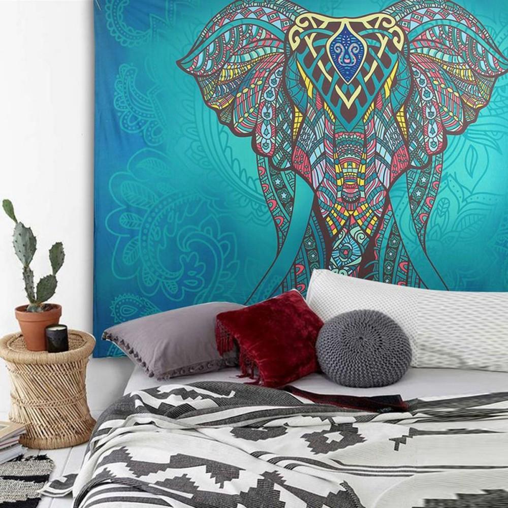 Kain Mandala Persegi Motif Lingkaran Dekorasi Permadani Gantung Dinding, Handuk/Alas Pantai, Yoga | Shopee Indonesia