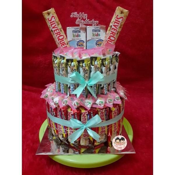 Kue Ulang Tahun Snack Isi Uang | Kue Ultah Snack