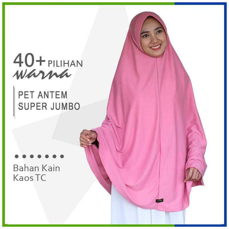 Jilbab Instan Pet Antem Super Jumbo Syari Hijab Khimar Pet Bahan Kaos Bergo Tc Shopee Indonesia