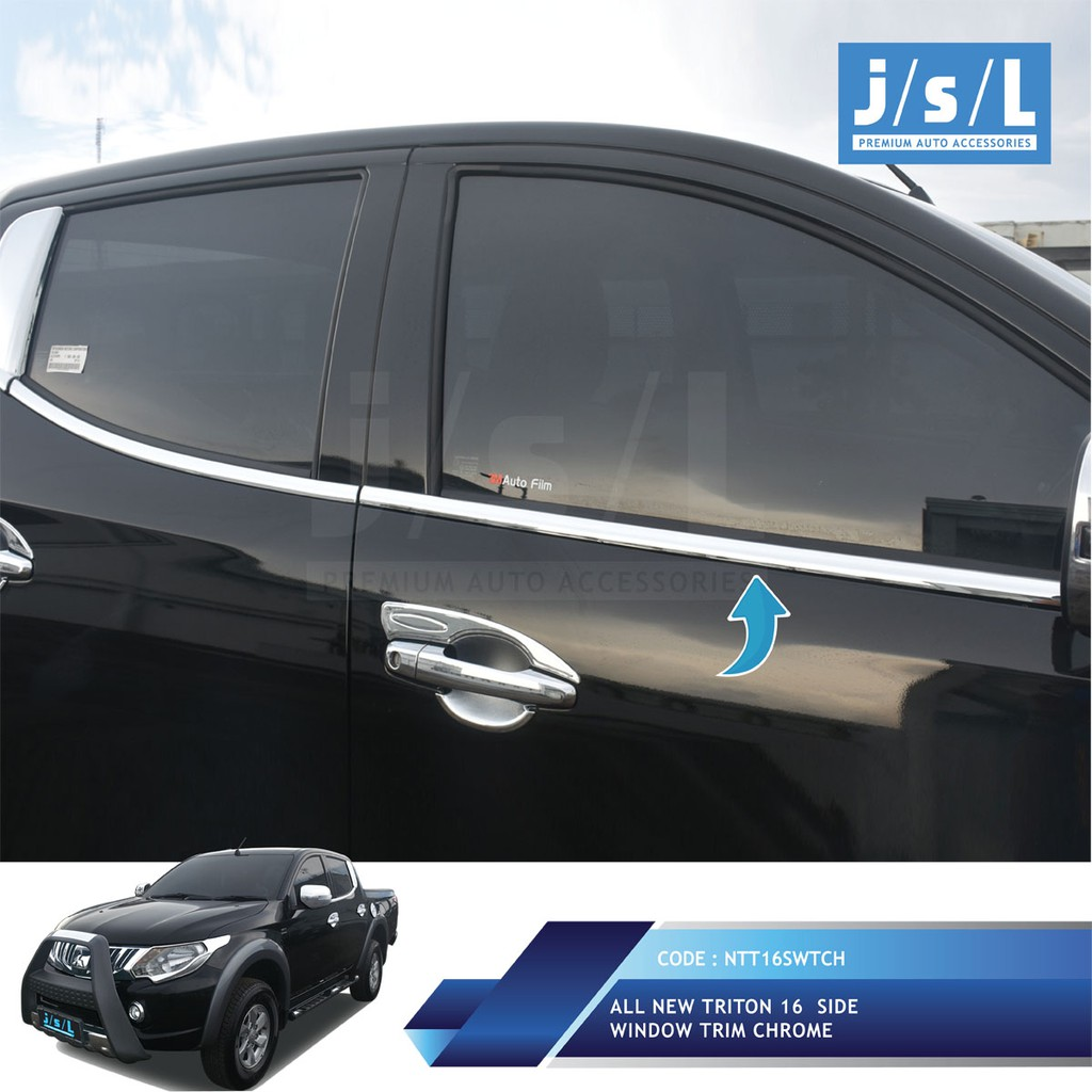 Toyota Agya List Kaca Samping Side Window Trim Chrome Shopee Indonesia Rush Terios
