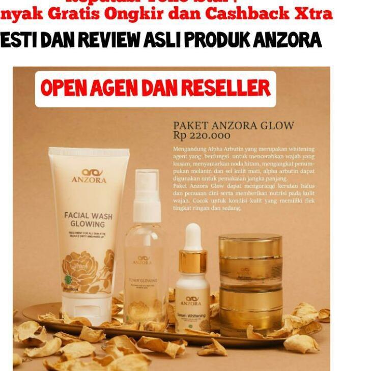 ✰ Online Shop ✰ ANZORA GLOW SKINCARE / CREAM ANZORA GLOW ORIGINAL / CREAM ANZORA GLOW SKINCARE / PAK