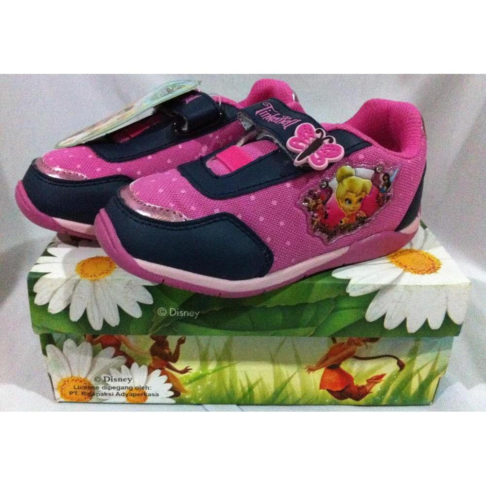 Sepatu Disney Tinker Bell Grace Pink Navy Sz 22 26 Shopee Indonesia Turedo Jepit Manik