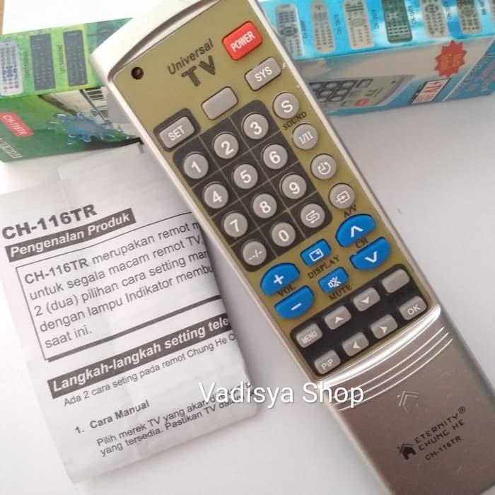 Universal Tv Multi Remote Control Ch 116tr Shopee Indonesia