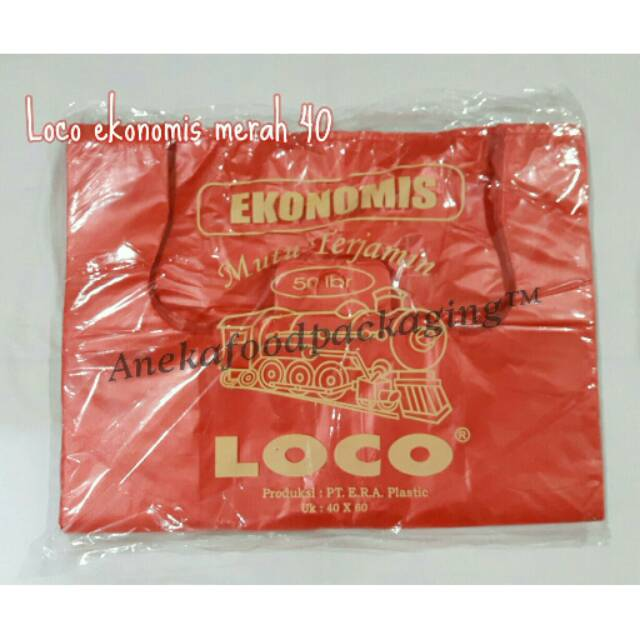 Kantong Plastik Loco Hitam Ekonomis Uk. 40x60 Terlaris | Shopee Indonesia