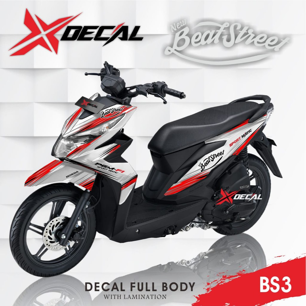 Sticker Decal Honda Beat Street Kode Bs3 Shopee Indonesia