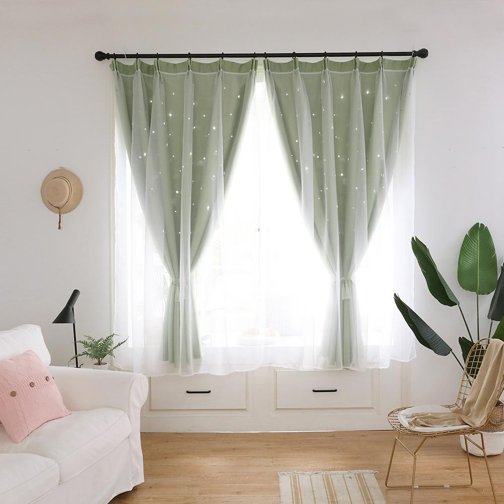 Modern Stars Windows Blackout Curtains Living Room Bedroom Home Window  Decorative Drapes Curtain
