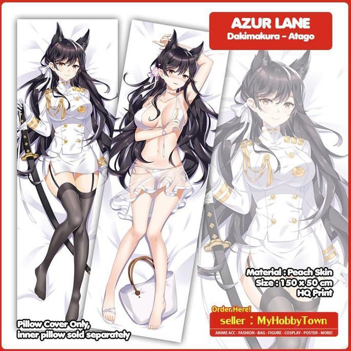 Sarung Bantal Anime Dakimakura Azur Lane : Atago