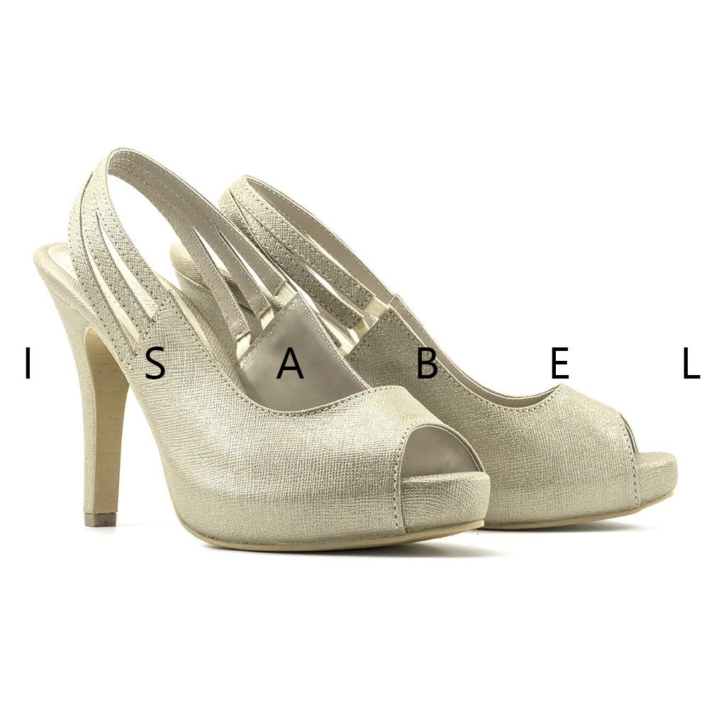 Isabel SALLY Sepatu Wanita Hak Tinggi Pantofel Kerja Casual Block High Heels Hitam Biru Krem | Shopee Indonesia