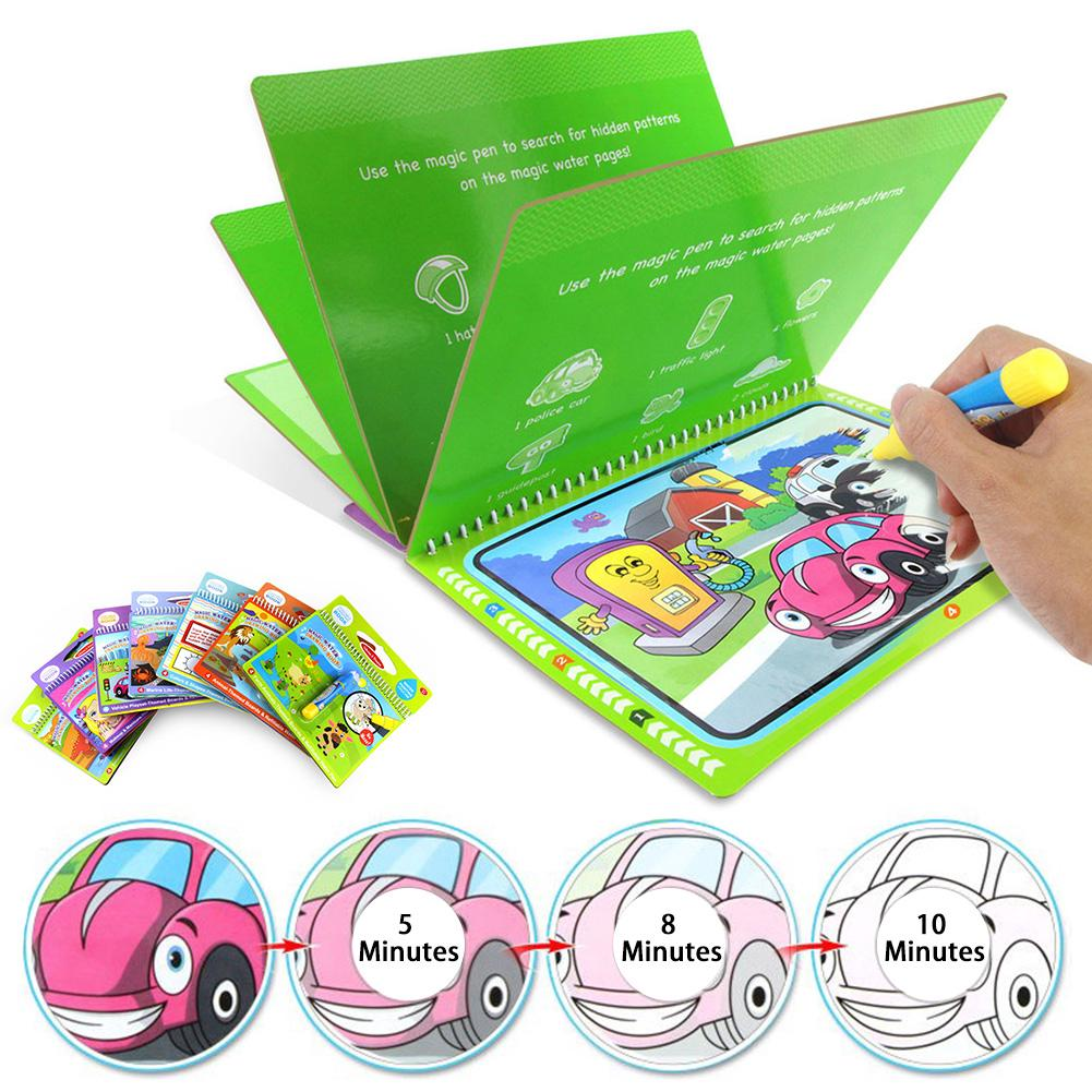 Drawing Book Coloring Board Painting Magic Water Kids Doodle Writing Toys