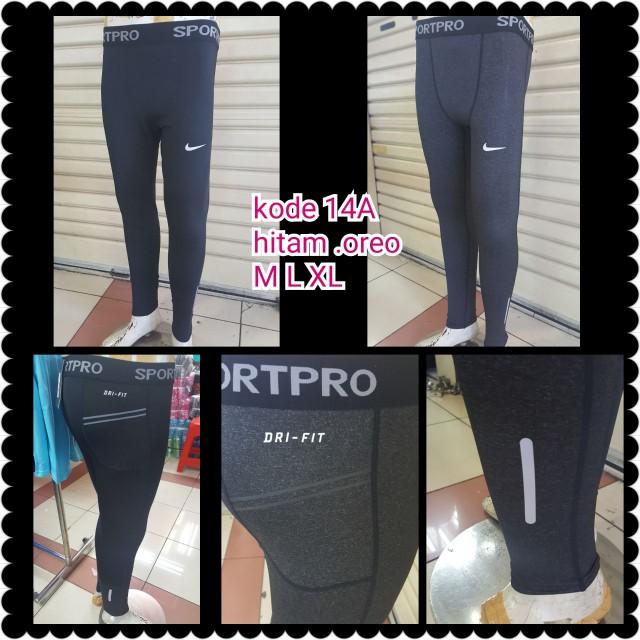 Celana Legging Sport Panjang Cowok Pria Murah Nike Under Armour Adidas Shopee Indonesia