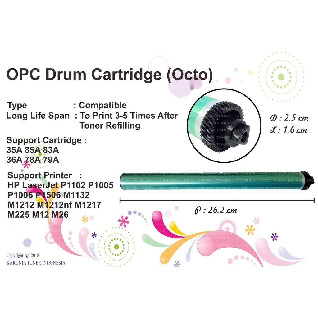 Opc Drum Toner Cartridge Octo Cf279a 79a Printer Hp Pro M12a M12w Laserjet P1102 Katrid Ce285a 85a Shopee Indonesia