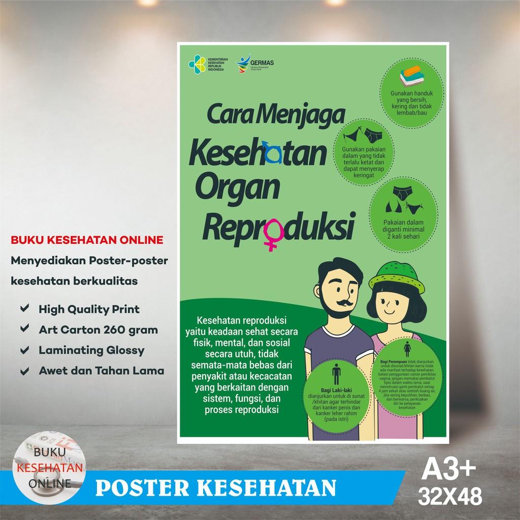 Poster Kesehatan Cara Menjaga Kesehatan Organ Reproduksi Laminating Glossy Shopee Indonesia