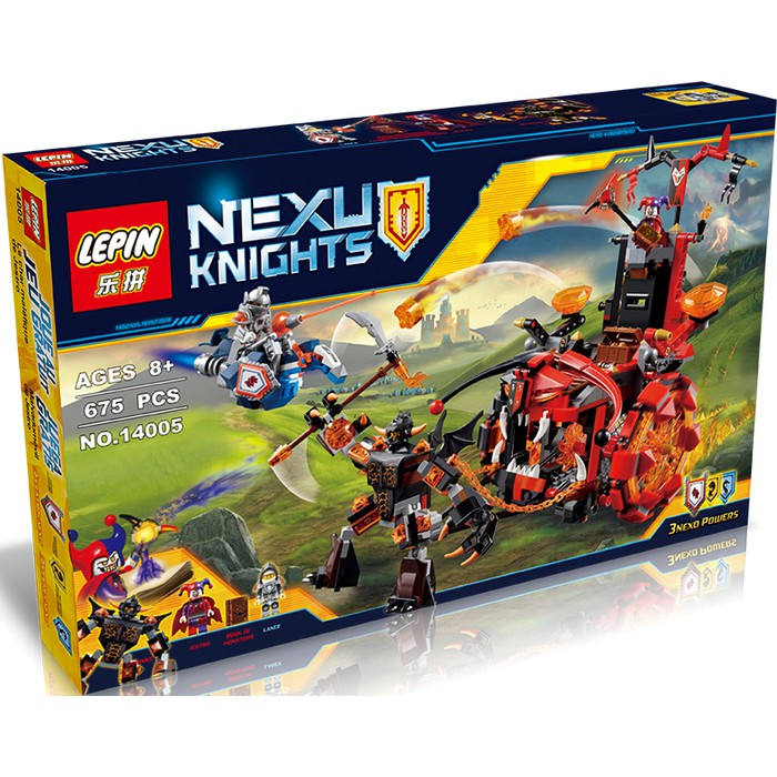 PROMO Lepin Bricks 14026 Nexu Nexo Knights Lance vs Lightning Berkualitas | Shopee Indonesia