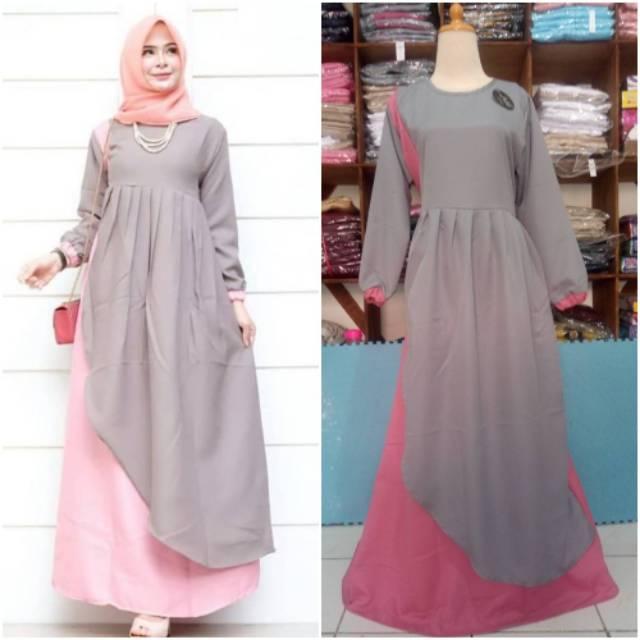 Baju Gamis Muslimah Modern Murah Keluaran Terbaru Shopee Indonesia