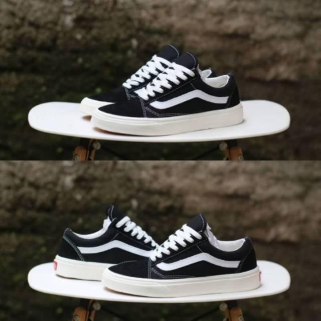 Sepatu Vans Old Skool OG LX Black White Ivory BNIB Original Premium
