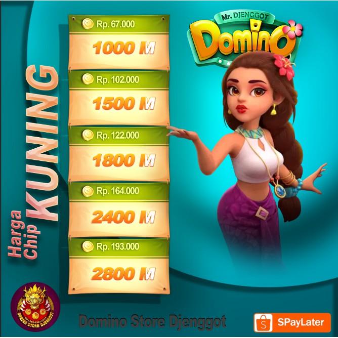 TOP UP  Chip Hoki Domino Higgs - Chip Domino Promo Murah - Chip Higgs Domino Island