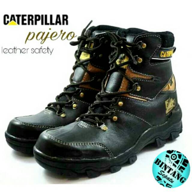 Sepatu boot septi pdl tinggi kulit asli sleting tali Adidas steel toe sol  tracking outdoor tactical  ec9cd7a6a5