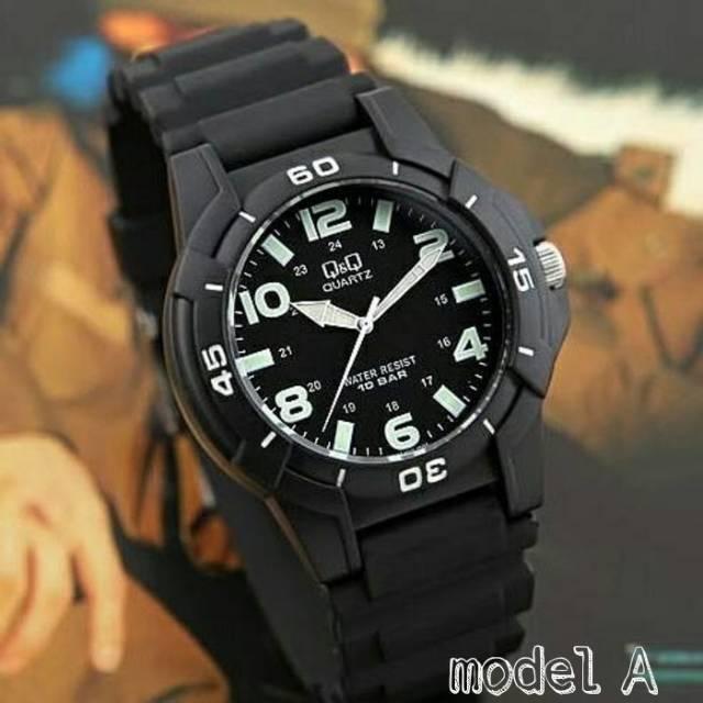 Jam Tangan Pria Wanita Q Q Vq84j002y Rubber Original Qnq Unisex Anti Air Qq Watch Vq84 Jamtangan Shopee Indonesia