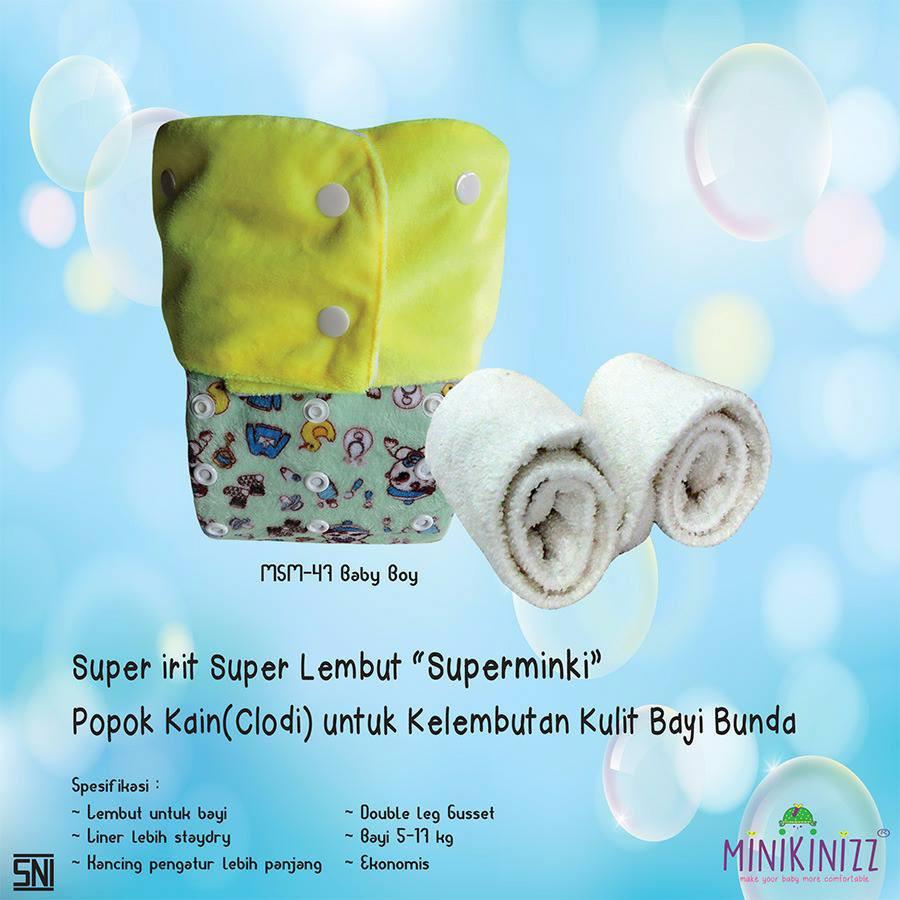 Habisin Stok Clodi Minikinizz Supereco Diskon Murah Meriah Izzy Eco Cloth Diaper Popok Kain Grosir  Motif 6 Shopee Indonesia
