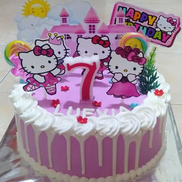 Kue Tart Kue Ulang Tahun Hello Kitty Shopee Indonesia