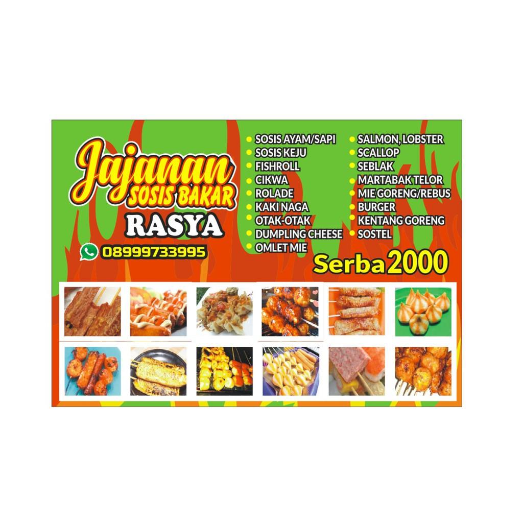 spanduk jajanan sosis bakar ukuran 120 x 80 cm shopee indonesia spanduk jajanan sosis bakar ukuran 120 x 80 cm