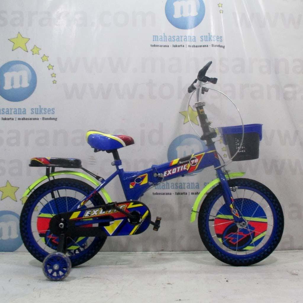 16 Exotic 8889 78 Sport 4 10 Tahun Roda Bantu Nyala Pu Wheel Kids Samping Sepeda Anak Folding Bike Lipat Shopee Indonesia