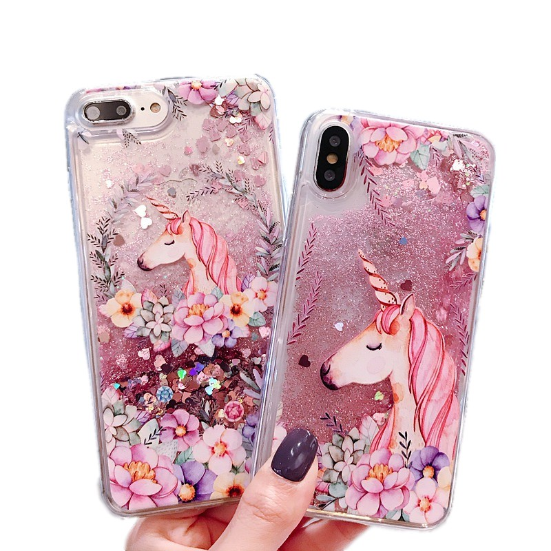 Hard Casing Soft Case Hp Oppo F7 A9 F9 F11 Pro A7x A7 K1 R15 Motif Quicksand Glitter Shopee Indonesia