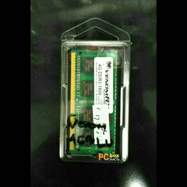 harga VENOMRX 4GB DDR3 1600 PC-12800 SODIMM MEMORY RAM NOTEBOOK Shopee.co.id