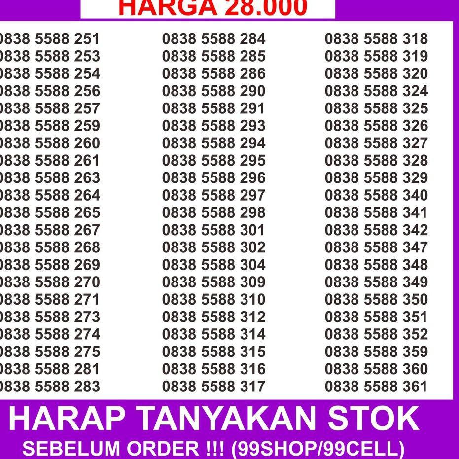 Hot Item Nomor Cantik Axis 11 Digit - Nomer Cantik Axis 11 Digit 0838 5588 xxx - Axis 0k 11 digit ,,