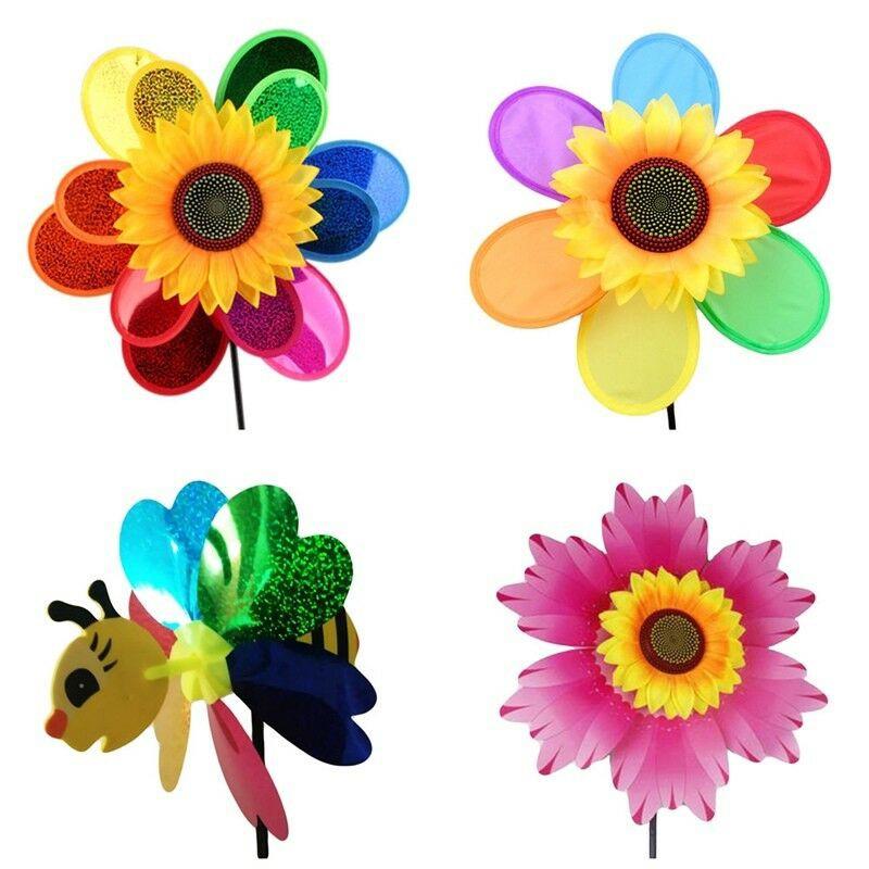 Mainan Kincir Angin Bentuk Lebah Bunga Matahari Bahan Plastik Kertas Untuk Dekorasi Halaman Taman Shopee Indonesia
