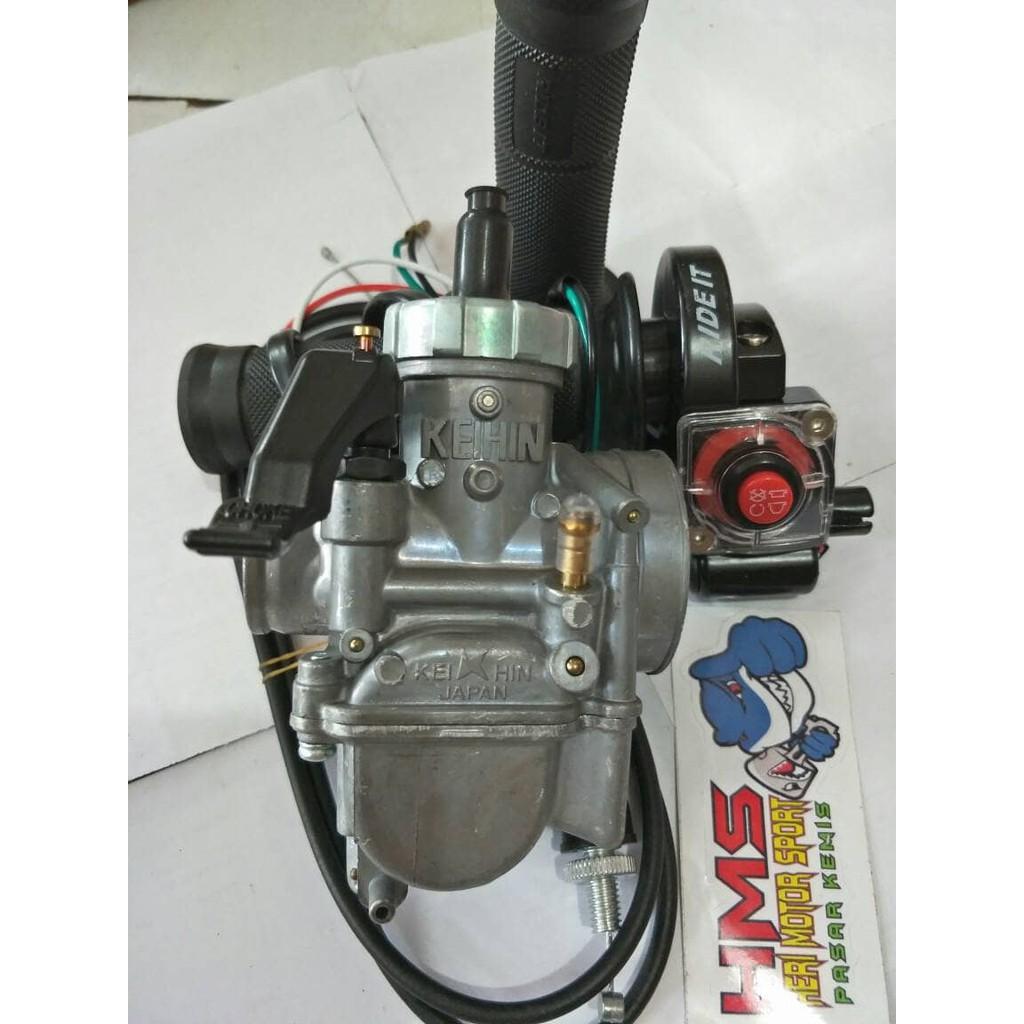 Paket Murah Karburator Nsr Keihin Pe26 Plus Gas Spontan Rideit Bungbon Polos Tombol Bebek Shopee Indonesia
