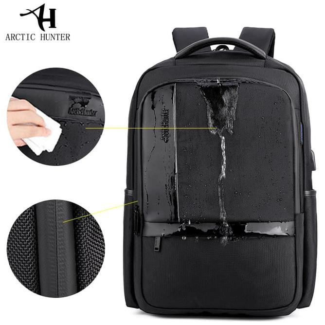 Arctic Hunter Tas Ransel Laptop Premium Executive Oxford Backpack Anti Air dan USB Support AH-B | Shopee Indonesia