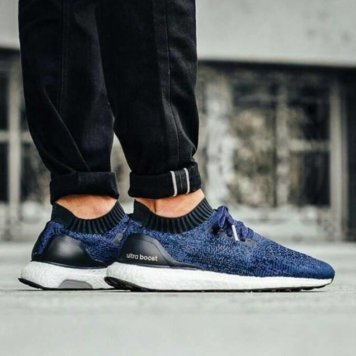 ed6f21754 Sepatu Adidas Ultra Boost Ultraboost Uncaged Primeknit Dark Blue Navy