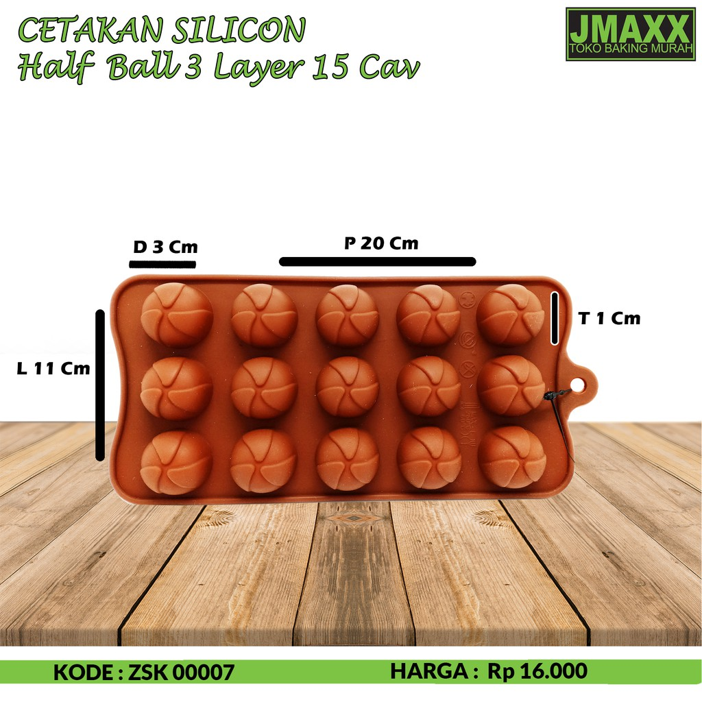 Cetakan Silicon Half Ball 3 Layer 15 Cav Shopee Indonesia