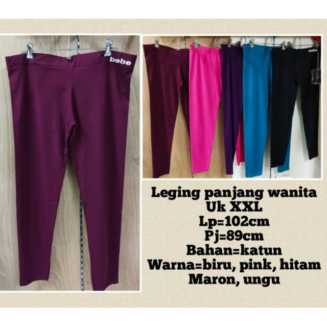 Celana Legging Panjang Bebe Impor Ukuran Xxl Shopee Indonesia