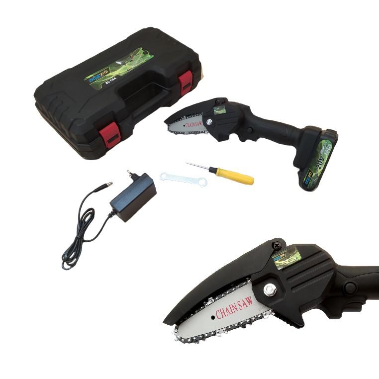 DOZIRO Mini Cordless Chainsaw 4 inch 1 Baterai / Mesin Gergaji Kayu / Cordless Elektric Pruning Saw