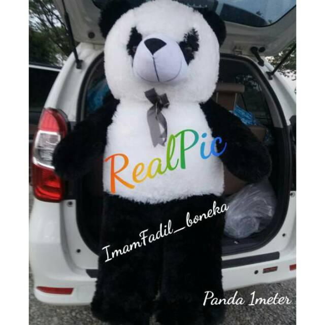 Super Big size jumbo Panda Plus bordir nama setinggi orang dewasa TERMURAH  !!!  ff01e96dc8
